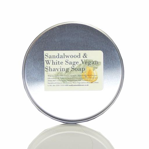 Dalmatian Sage & Sandalwood Vegan Shaving Soap