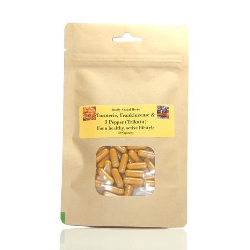 Turmeric, Frankincense & 3 Pepper (Trikatu) Capsules