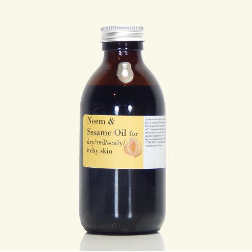 Neem & Sesame Oil with tamanu